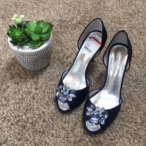 Navy Bridal Shoes